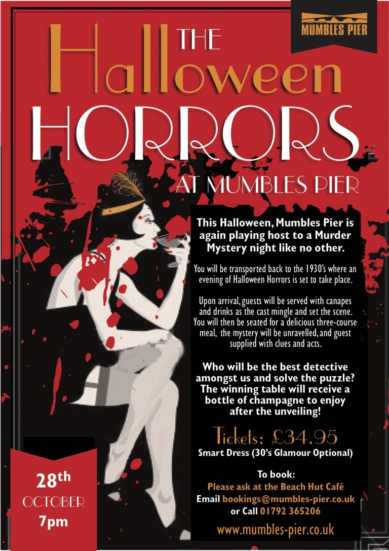 murder mystery night: the halloween horrors – mumbles pier